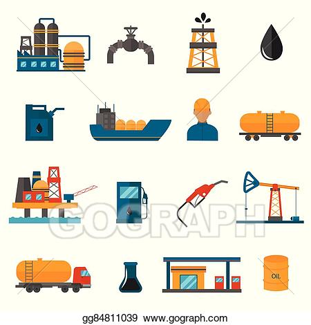 clip freeuse download Vector manufacturing. Illustration oil gas industry.