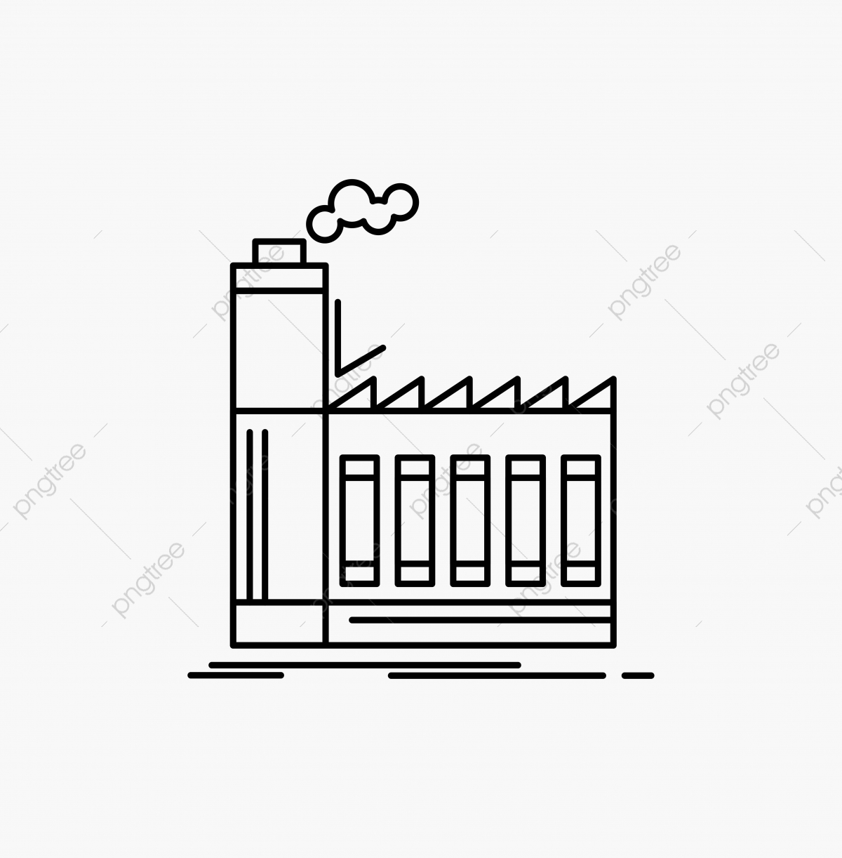 jpg library download Factory industrial industry ic. Vector manufacturing production line.