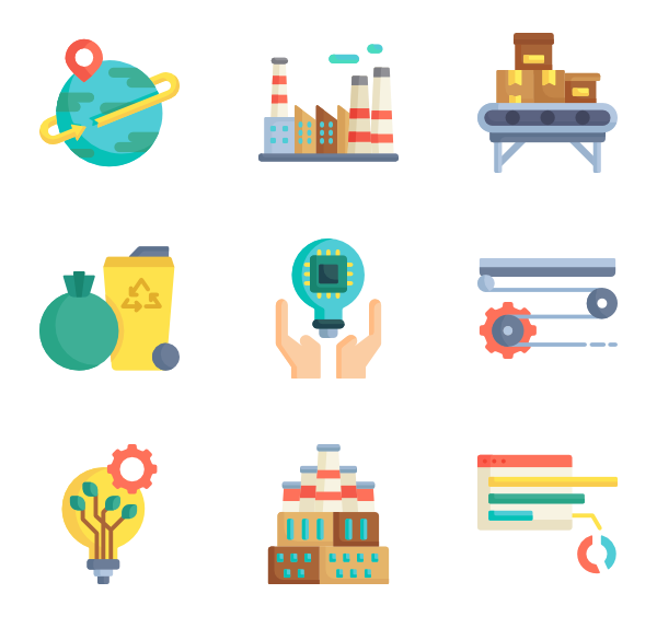 clipart royalty free Factory and icons free. Vector manufacturing.