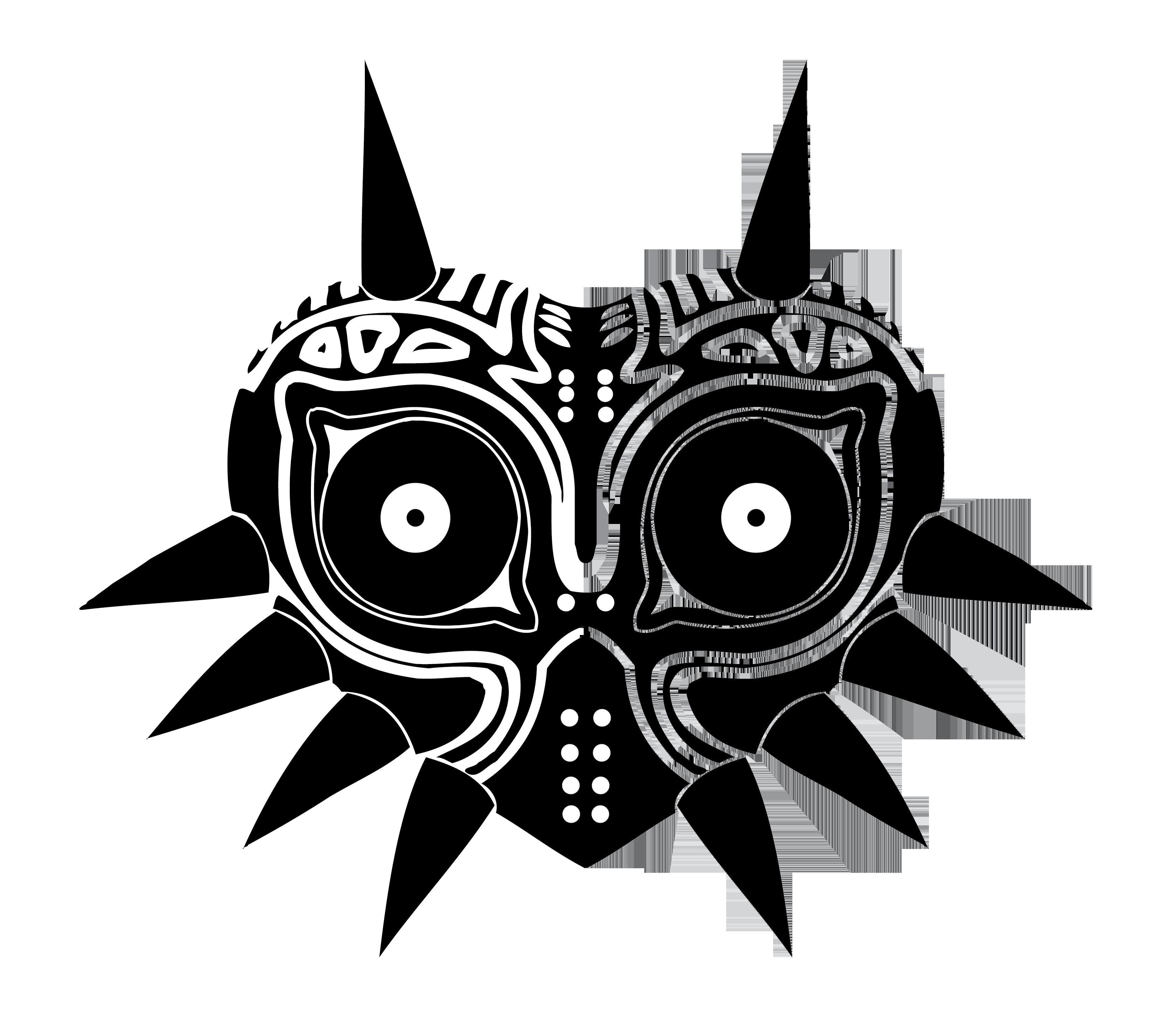 banner black and white stock Majoras Mask Vector