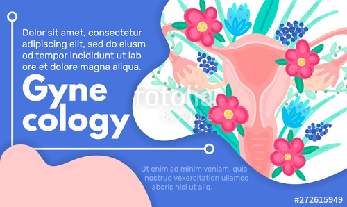vector free library Web template with female. Vector medical reproductive health