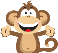 graphic freeuse download Vector monkey. Name labels for kids.