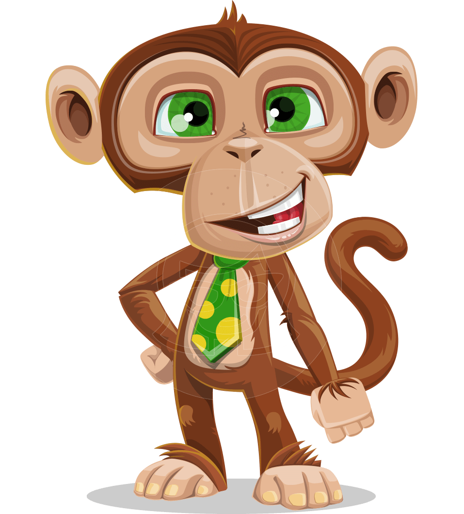 png free download Vector monkey. Cartoon character bizzo the.