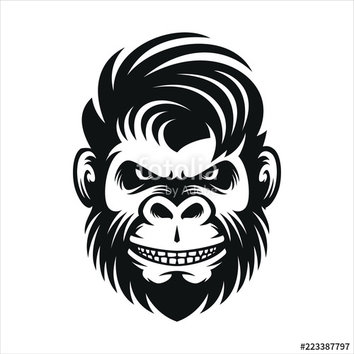 vector free stock Vector monkey. Haircut men illustration stock