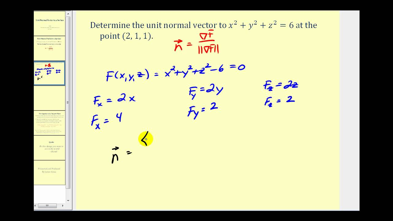 clip free Determining a unit to. Vector calc normal