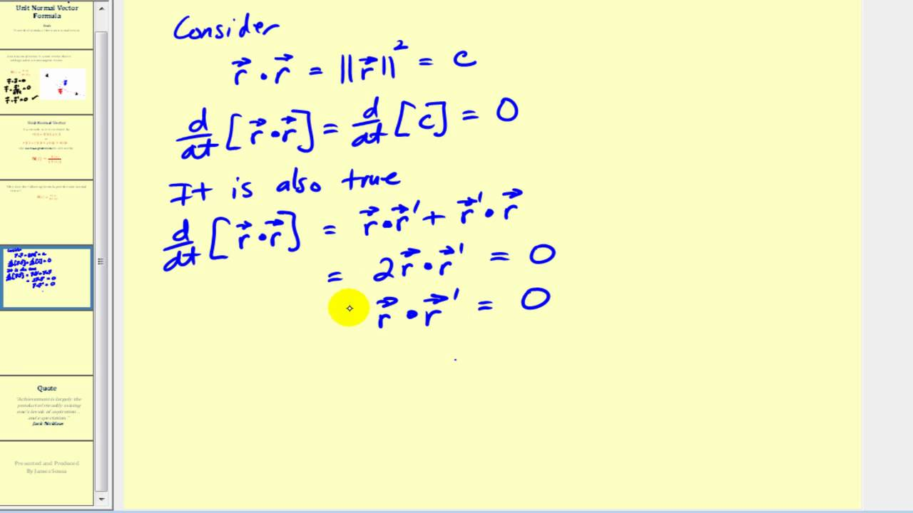 clip black and white stock Proving the normal formula. Vector calc unit