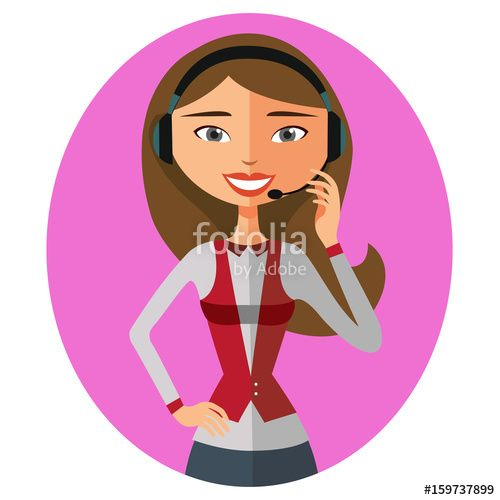 clip library library Vector operator cartoon. Customer support icon call