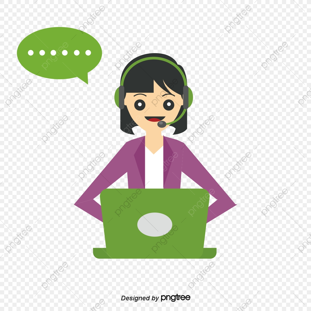 vector free library Vector operator cartoon. Png and