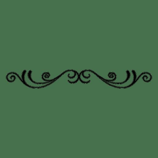 clip art transparent download Curvy floral swirls transparent. Vector ornament