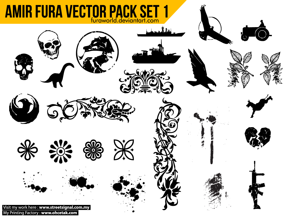 vector royalty free stock Amir fura pack set. Vector resources