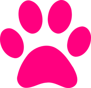 clipart download Print pink clip art. Vector paw