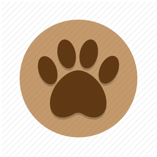 jpg freeuse library Vector paw wild animal. Everything icons by eager