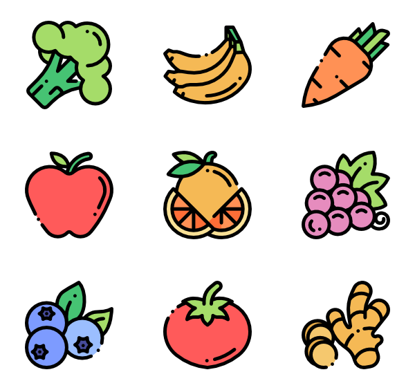 svg black and white stock Vector cartoons vegetable. Peach icons free fruits