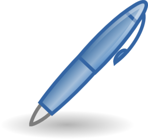 jpg free stock Pen clipart. Style clip art at.