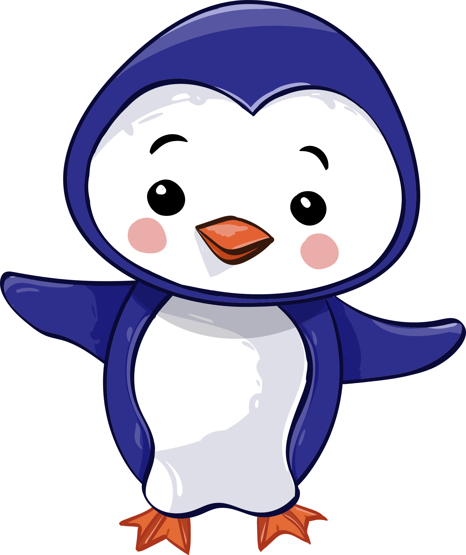 transparent library Vector penguin cute. Baby graphics free stock