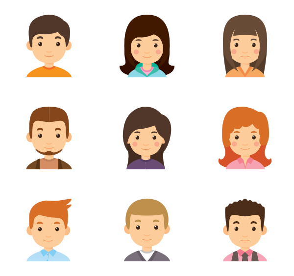 jpg freeuse stock  icon packs for. Vector avatar flat
