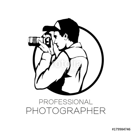 graphic download Photographer with camera icon. Vector photography