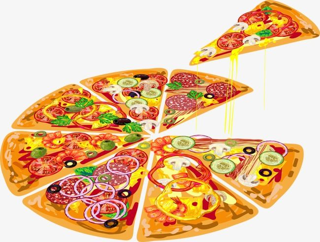 clipart library download Vector pizza. Sliced baby