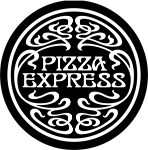 banner royalty free Vector pizza. Express logo svg free