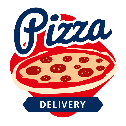 banner royalty free library Vector pizza. Logo transparent png svg