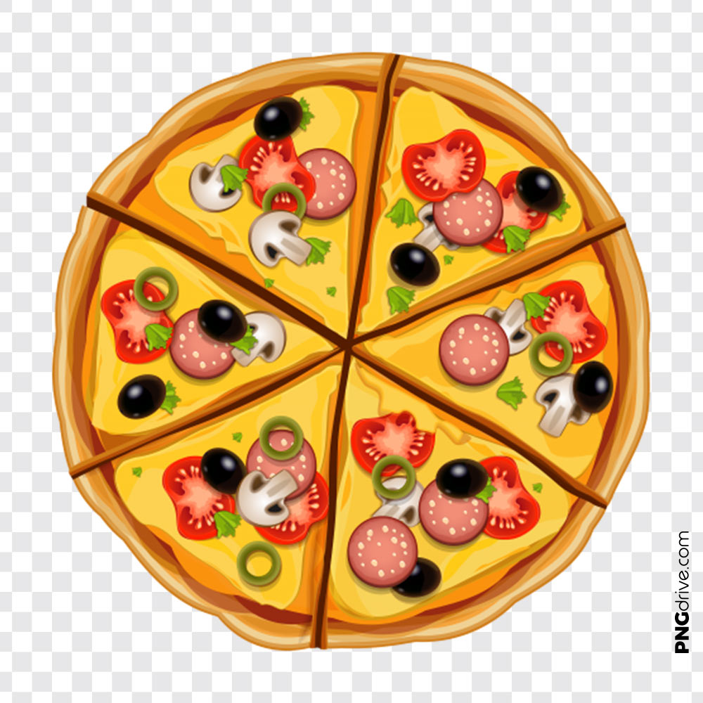 svg free library Top view png image. Vector pizza