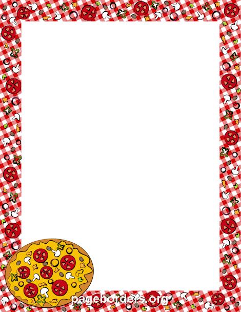 clip art library stock Pizza Border
