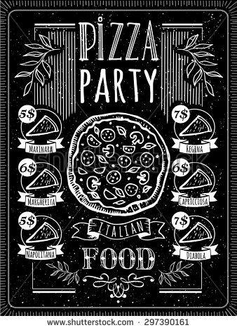 jpg freeuse Vector illustration with pizza menu