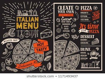 clip art download Pizza restaurant menu vector food flyer for bar and cafe