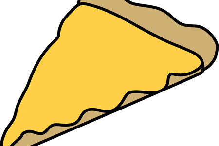 clip art black and white cheesy pizza slice drawing