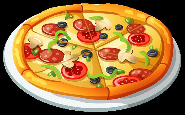 clip transparent library Su comida favorito es pizza