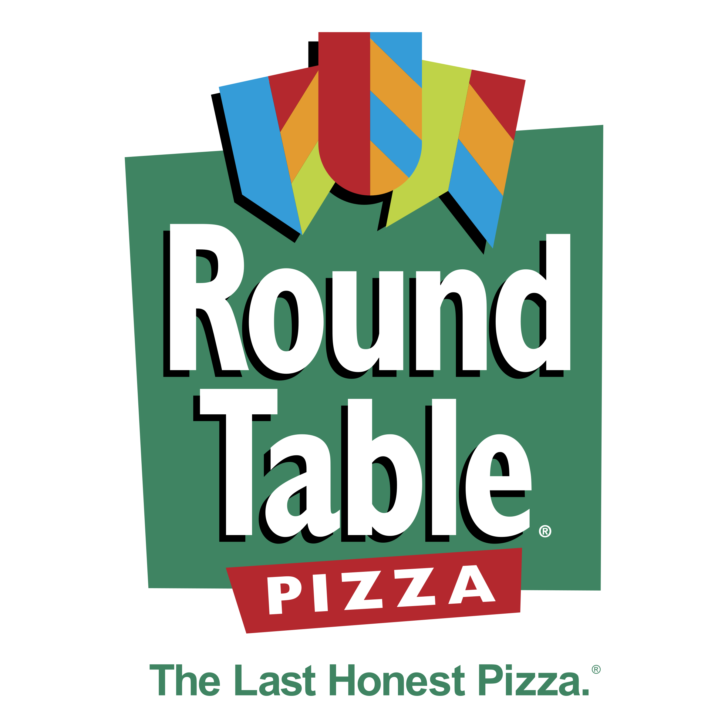 banner royalty free Round Table Pizza Logo PNG Transparent