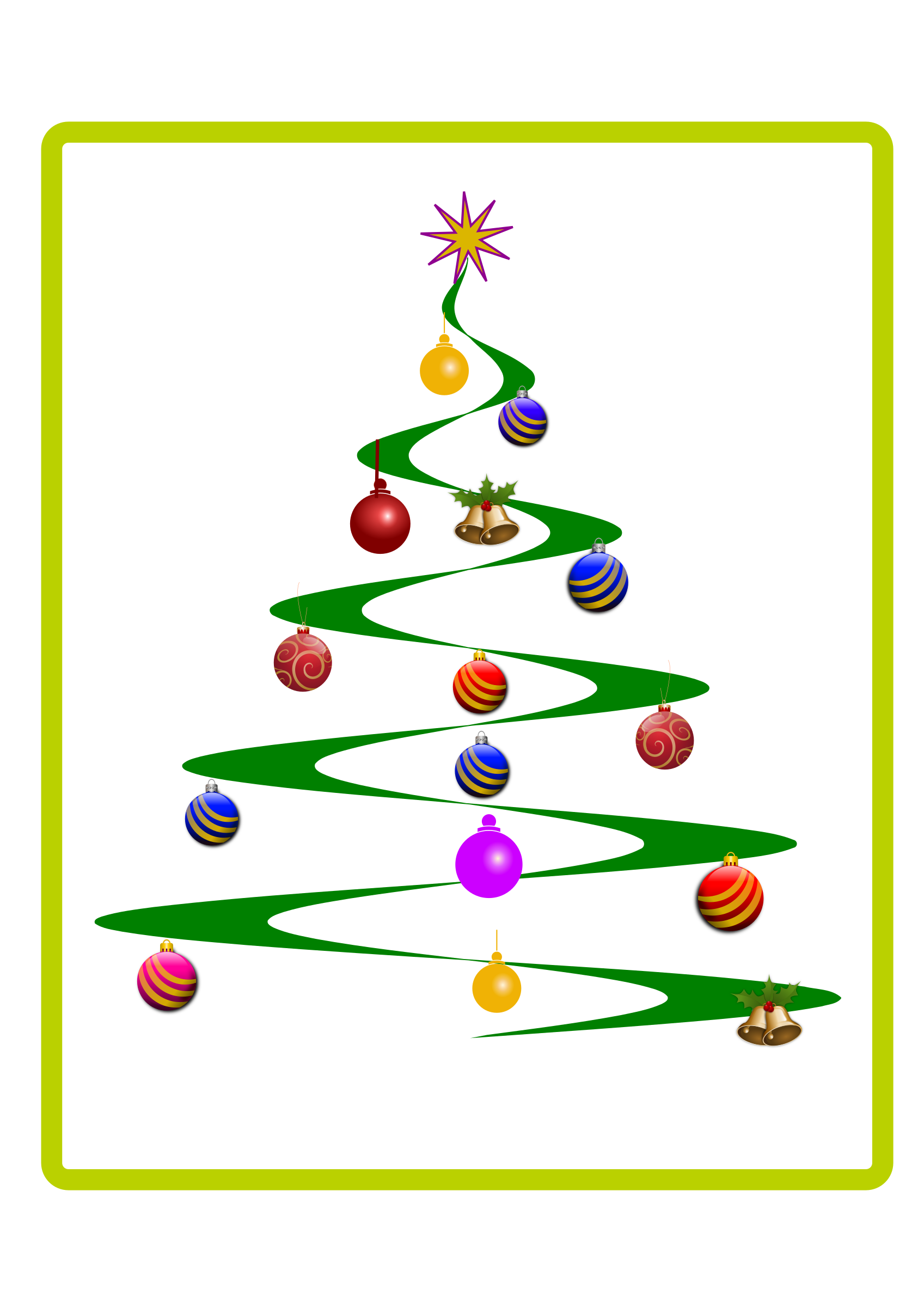clip library download Helix Christmas Tree Vector Clipart