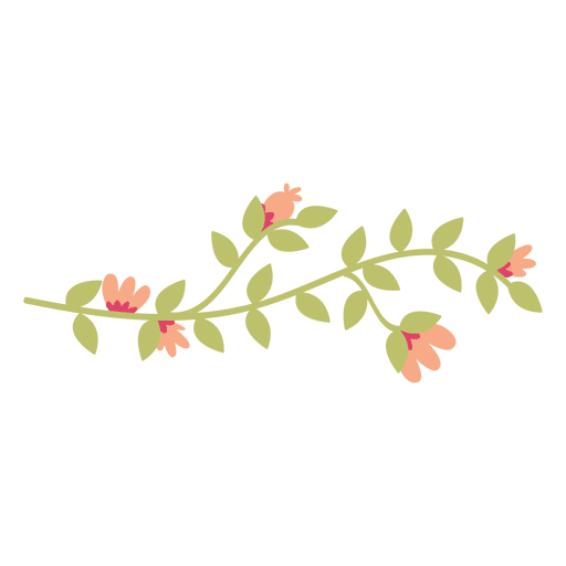 picture library download Vector plant doodle. Flower leaves illustration transparent