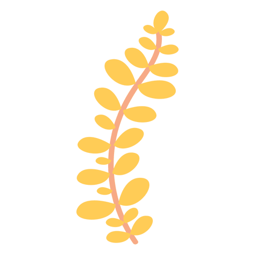 jpg free download Illustration yellow transparent png. Vector plant doodle.