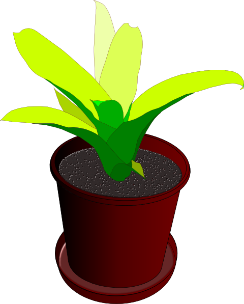 svg black and white download Potted Plant Clip Art at Clker