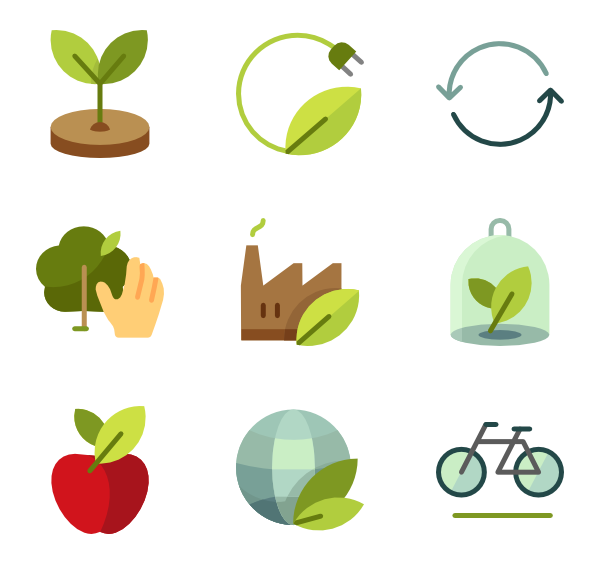 graphic black and white  plant icon packs. Vector bushes flat design
