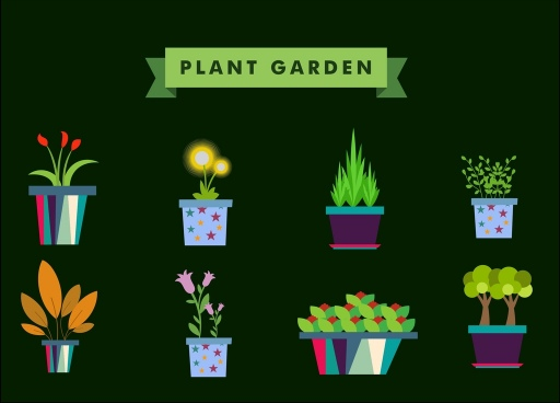 jpg black and white download Vector flower plants garden free vector download