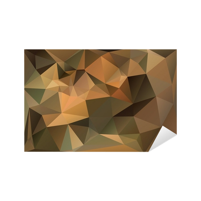 svg black and white stock Green and Brown Polygon Triangle Background Sticker