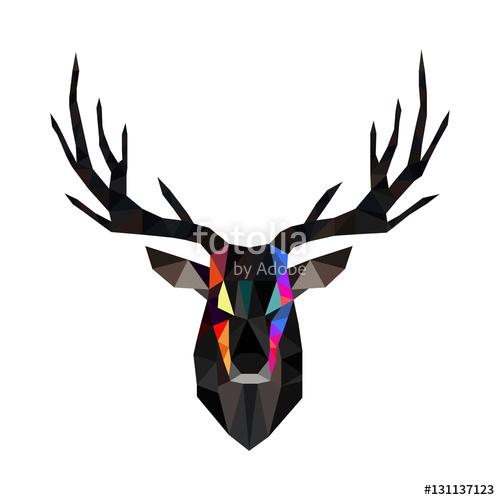 transparent stock Vector polygon deer. Polygonal stock image and