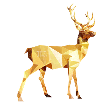 clip art royalty free library Low Poly Deer by SabrinaDeets