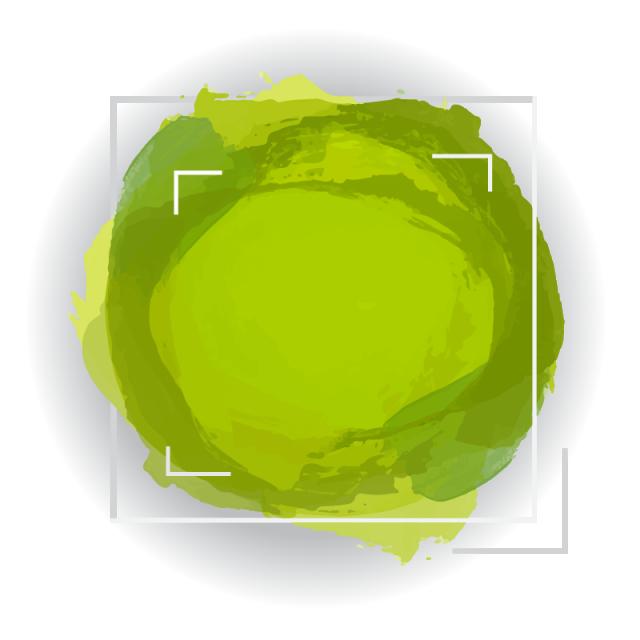 vector freeuse stock Green Circular Watercolor Banner