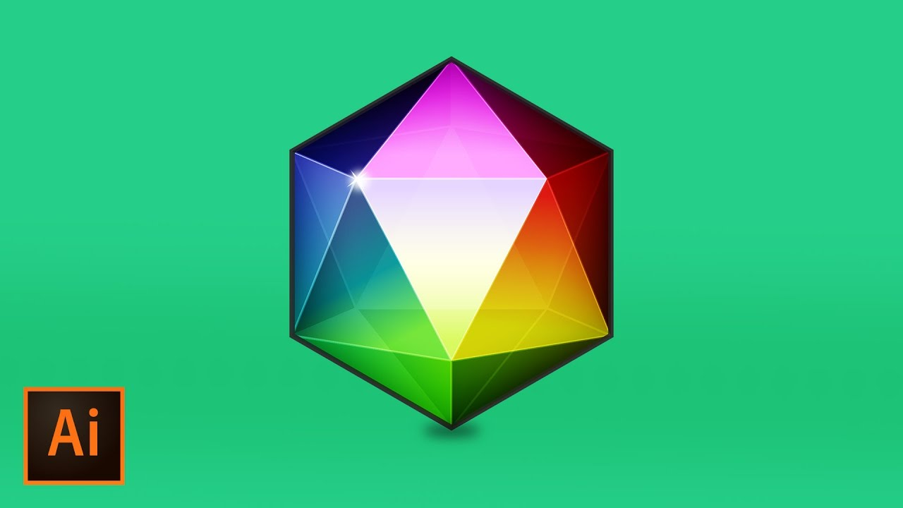 clip transparent library Vector polygon illustrator. Create a geometric gemstone.