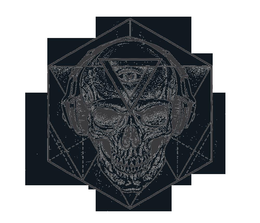 jpg library download vector polygon skull #118372463