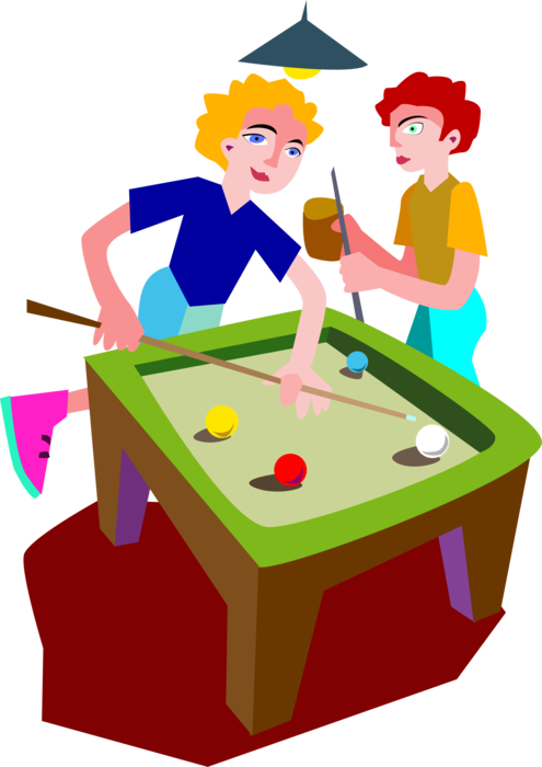 png black and white download Billiards Players Play Game of Pool