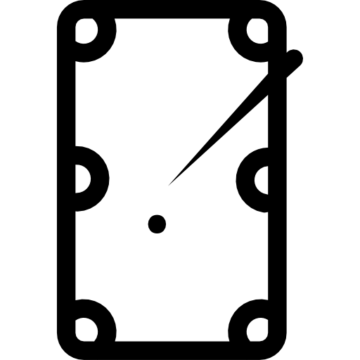 vector transparent library Pool table top view