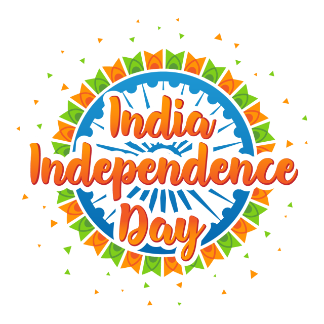 clip art download Holiday Poster With Colorful Flags On The Independence Day Of India