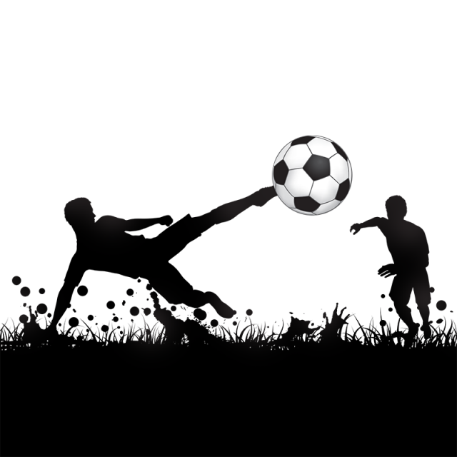svg royalty free stock Soccer Poster Background Vector Silhouette Graphics