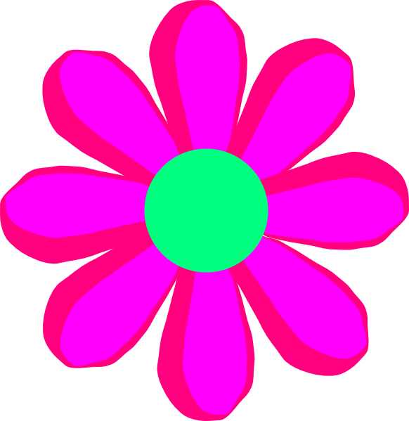vector royalty free Flower Cartoon Pink Clip Art at Clker