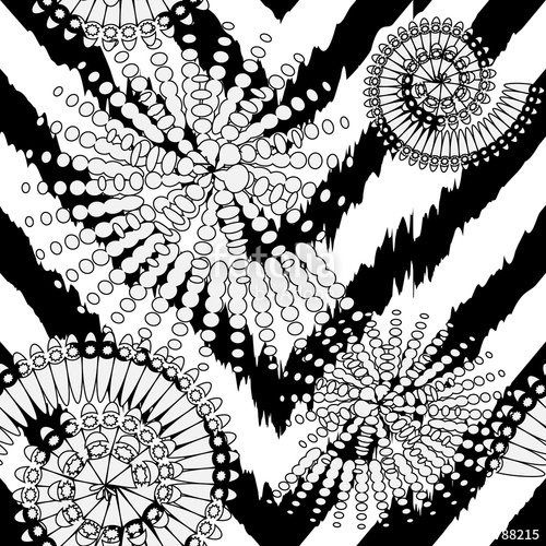 banner royalty free Zigzag black and white modern vector seamless pattern