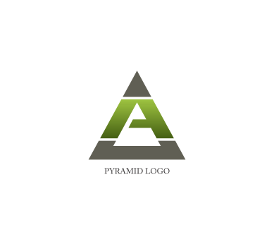 picture black and white stock Pyramid a logo design download